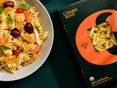 Cinque Terre pasta idenity food creative wordmark brand packaging typography lettering branding logotype