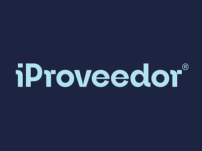 iProveedor logotype design creative app ux icon ui typography lettering fintech app fintech logotype logo branding brand