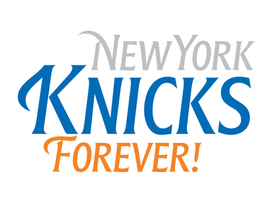 Go Knicks! logo typespire creative brand design basketball sport branding typography lettering knicks