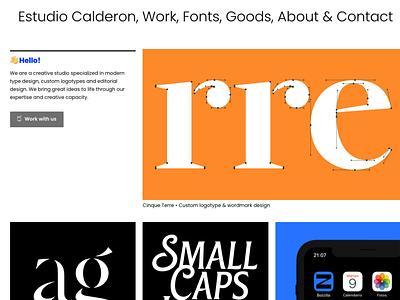New site ux brand branding creative design illustration lettering typography fonts creative agency design studio type foundry minimalist simple website web ui