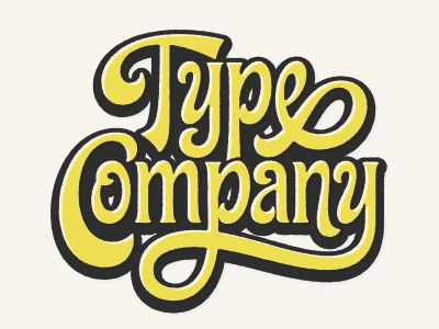 Type Company - Lettering Process