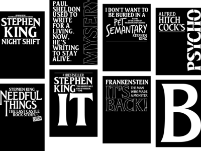 Stephen King & Alfred Hitchcock's covers