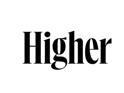 Compressed higher bodoni serif lettering typography