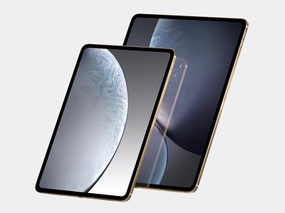 iPad Pro render from the leaked information. illustration leaks concept art art iphone 2018 ipad pro ipad product design leak concept industrial design apple