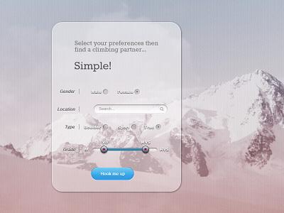 Climbers User Interface  ui interface web design