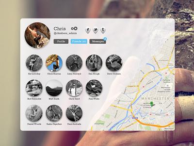 Profile Page Mockup web ux profile