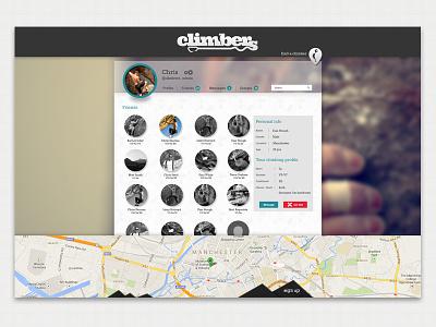 Friends Interface web design ux interface climbing