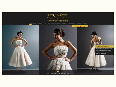 Wedding dress retailer Website web design photos wedding dress