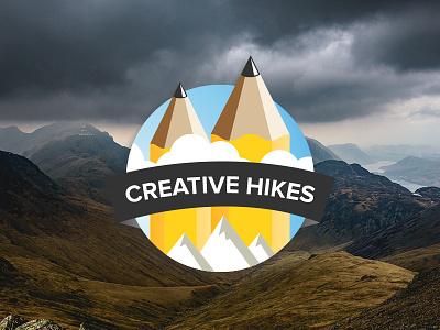 Creative Hikes Logo community sky pencils hikes creative outdoors hiking branding logo
