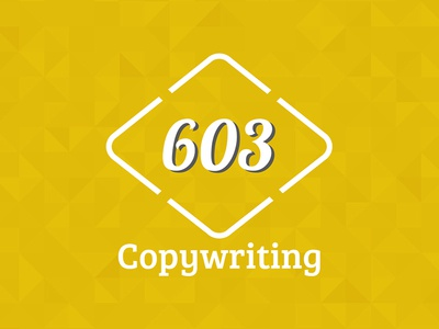 603 Copywriting Logo digital creative color colour pattern gold numbers 603 logo copywriting manchester