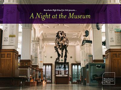 A Night At The Museum event t rex green purple invite bones skeleton dinosaur museum invitation