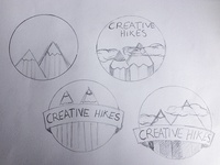 Creative Hikes Logo Sketch