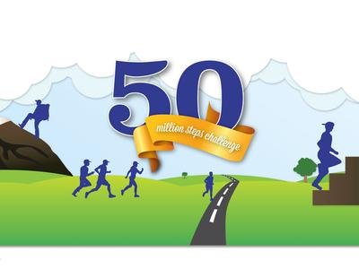 50million Steps Challenge Banner