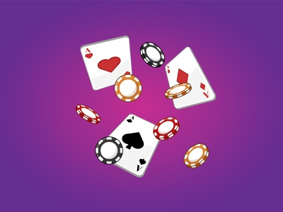 Poker Cards and Chips isometric poker chips cards casino banner background outline cartoon graphic art vector digital art design illustration
