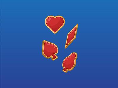 Playing cards suits symbol casino poker symbol banner background outline graphic art vector digital art design illustration