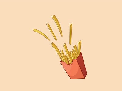 Tasty Frenchfries boxed frenchfries drawing outline cartoon graphic art vector digital art design illustration