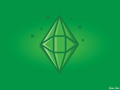 Green Gem green jewels gems drawing outline graphic design art vector illustration digital art