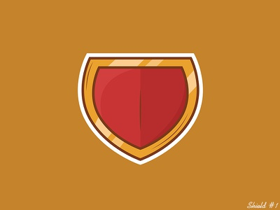 Shield #1 shield outline graphic design art vector illustration digital art