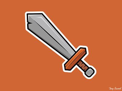 Tiny Sword tiny sword sword outline graphic design art vector illustration digital art