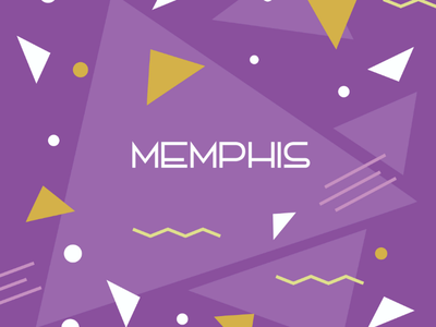 Memphis Style #1 banner cover design illustration background pattern memphis