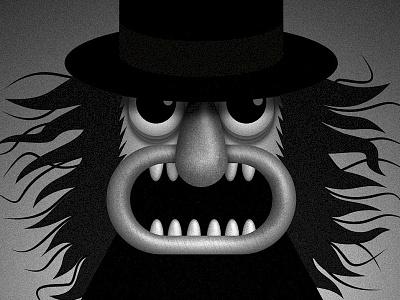 The Babadook face monster movie affinity designer vector childrens book kidlit illustration