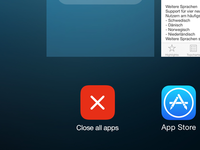 iOS Redesign – Close all button