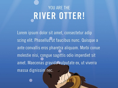 Fairmount Water Works - Personality Quiz quiz interactive otter illustration