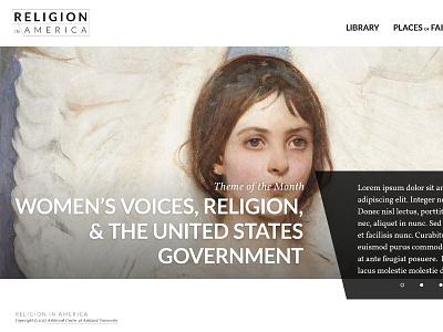 Religion in America - Design Comp #2 comp hero callout ui interface homepage