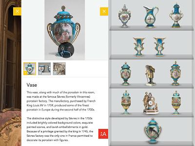 Widener Rice Room - Philadelphia Museum of Art interface instruction icon objects exhibit interactive