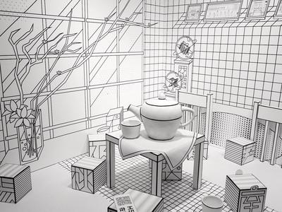 Scene display design-T-FINDING ROOM