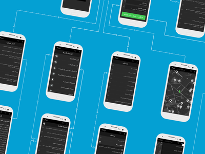 Wireframe - Arabic Mobile App