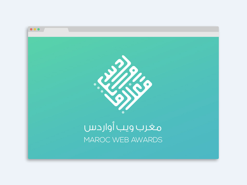 Maroc Web Awards - Mwa7 logo update rounded calligraphy kific flat identity redesign branding