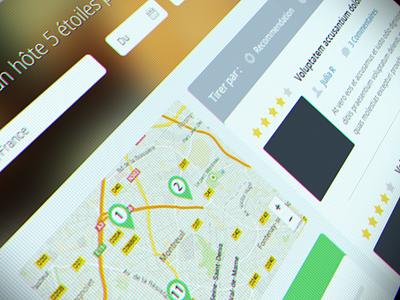 Search Results + Map search results map web webdesign ui flat pins filter