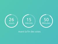 Circular minimal countdown