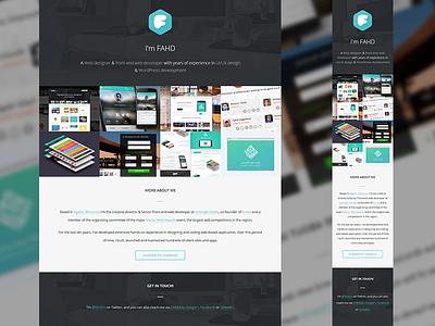 Portfolio Update portfolio update homepage personal logo responsive pattern webdesign website web flat