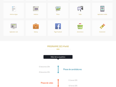 Web Awards Competitions - Morocco onepage website design icons flat avatar profile background timeline images