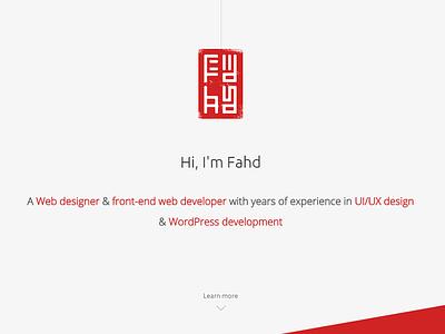 Portfolio Redesign 2015 web website red portfolio front end wordpress redesign designer morocco minimalist logo minimalist flat
