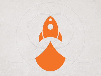 Yet Another Rocket rocket logo flat design startup launch space event