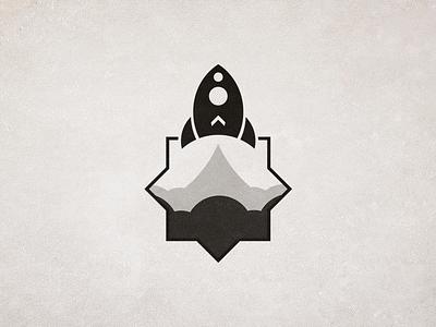Minimalist Version - Rocket rocket logo flat design startup launch space event arabic geometric patterns