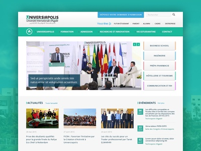 Homepage Update thumnail slider morocco green education website web redesign update homepage