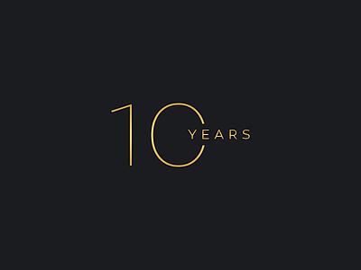 10 Years Anniversary minimal dark golden gold awards years anniversary ten 10