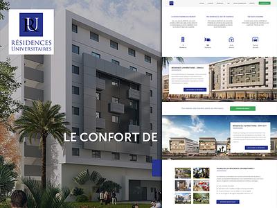 University Accommodation - Morocco morocco residence university flat section background image hero icons button website