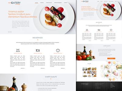 Catering Food Provider Service cooking chef design minimal website restaurant menu food elegant catering