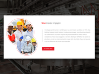 Happy Committed Team minimal content red button ticket website engagment happy photo widget team