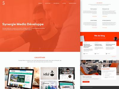 Synergie Media, website Redesign agency flat redesign wesbite ux ui responsive new website launch identity design branding