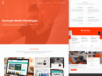 Synergie Media, website Redesign