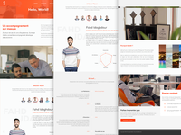 About Page logo images content minimal team redesign ux ui design website page about