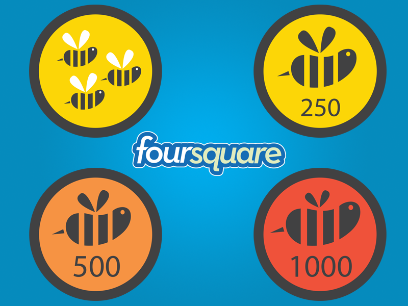 Freebie: Vector Swarm Badges ( Foursquare ) freebie free vector badges icons ai eps swarm design print