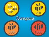 Freebie: Vector Swarm Badges ( Foursquare )