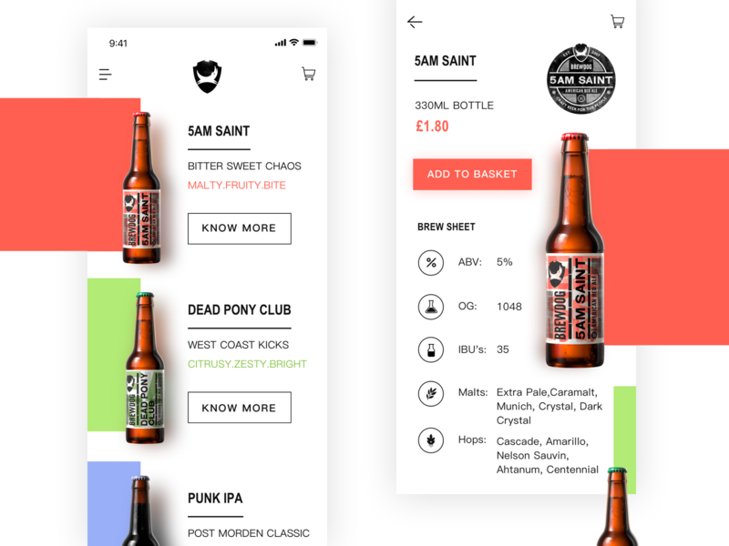 Craft Beer App Design By Peggypeiyii Dribbble Dribbble